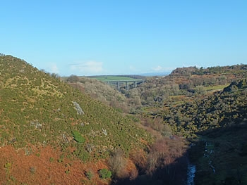 Photo Gallery Image - Views from Meldon Dam towards the viaduct