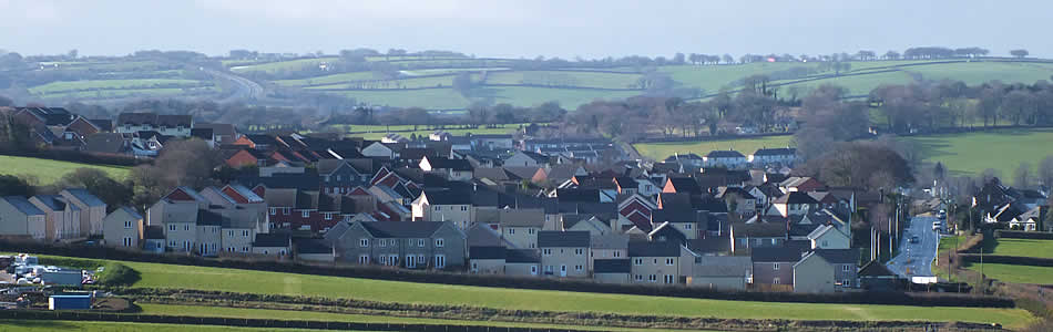New housing estate on Crediton Road